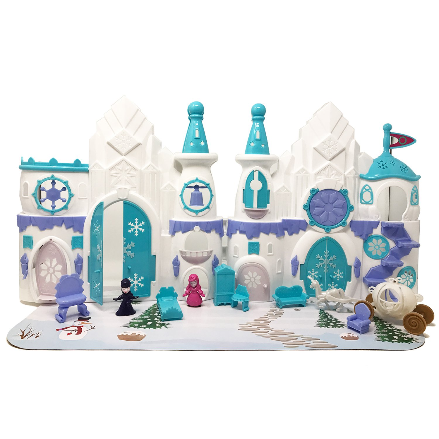 Boley Ice Castle人形House Play Boley Toy – 11 PC折りたたみ可能なドールハウス、A Perfect Carriage Girls Toy With Pretend Play Magical Carriage and More。 B01N20RKY3, オカザキシ:18dabbf7 --- kutter.pl