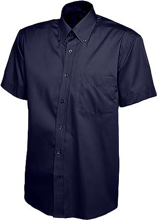 Camisa Oxford para hombre con manga corta y bolsillo en el pecho Works Business Security: Amazon.es: Ropa y accesorios