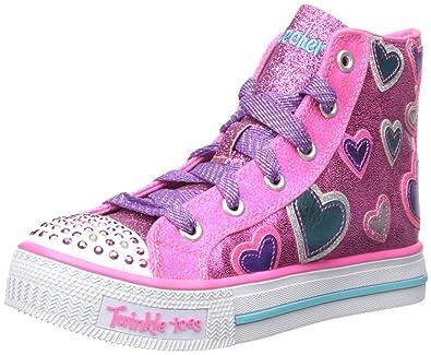 Twinkle toes Shuffles STARLET POSE, pink/türkis mit Sternen und blinkenden Steinchen (30) Skechers
