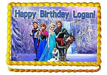 Amazoncom Frozen 14 Sheet Edible Photo Birthday Cake Topper