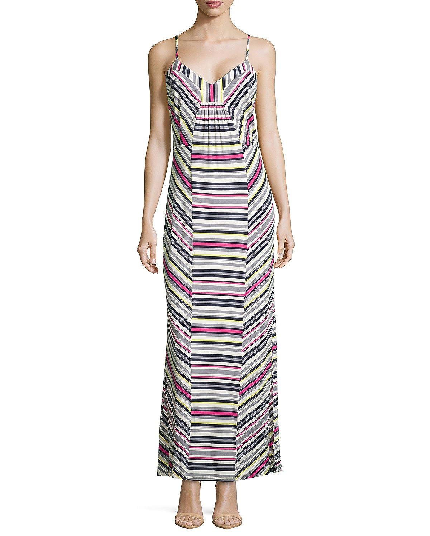 bf919c3e95 Laundry by Shelli Segal Women's Multi Stripe Jersey Dress at Amazon Women's  Clothing store: