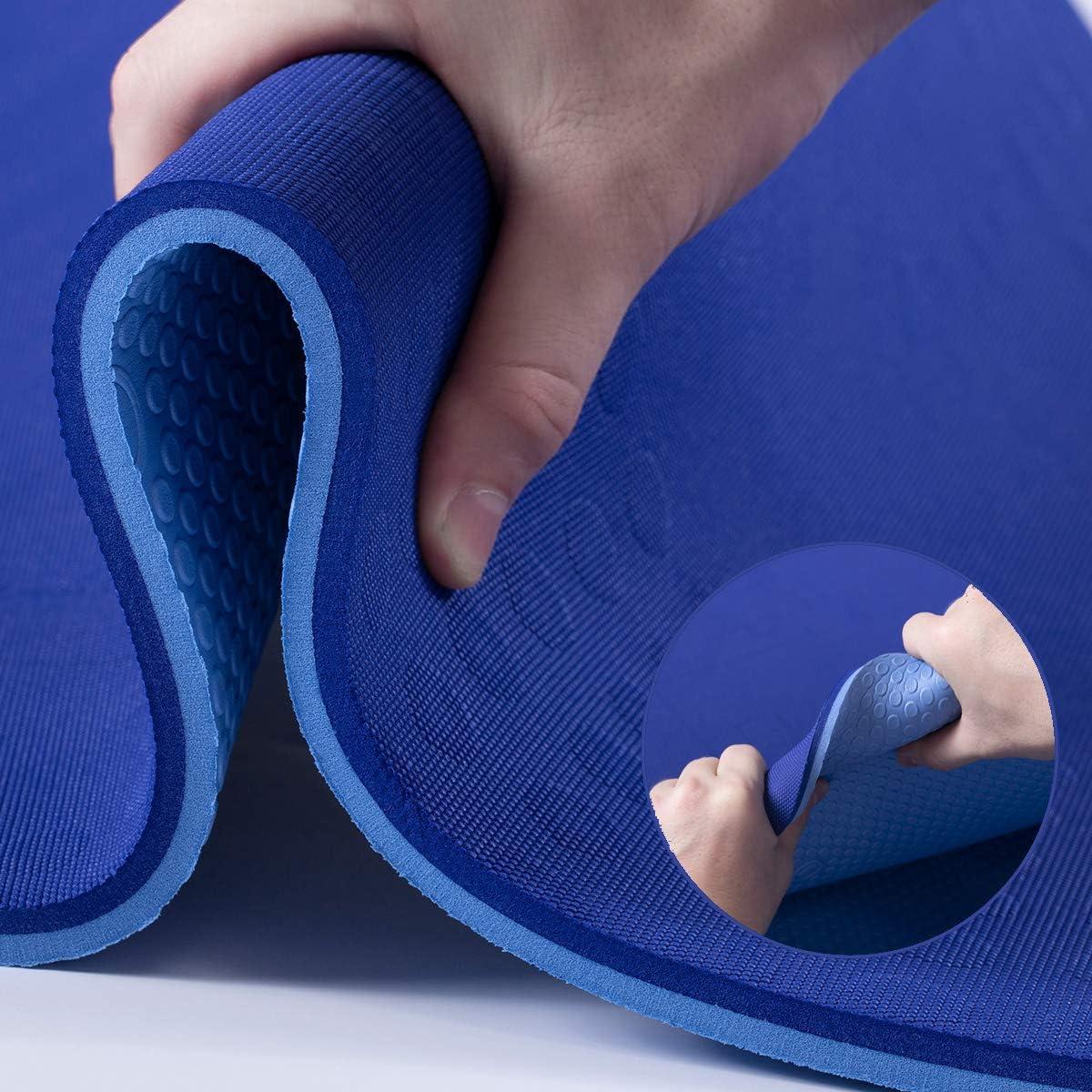 JELS Extra Thick Yoga Mat 2 Chicago Mall 5 inch Non Direct stock discount Slip 3D Ergonomic Desig