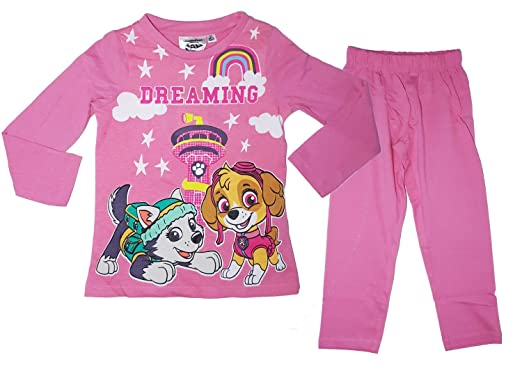 c6737e78196d9 Pat  Patrouille Pyjama Fille Manches Longues Pantalon - Rose - 2 Ans ...