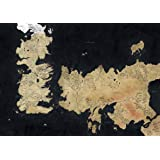 Poster GAME OF THRONES Sept couronnes SEVEN KINGDOMS OF WESTEROS Carte Maps