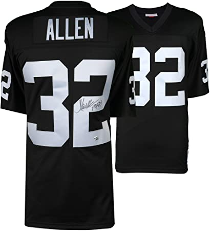 8afdf49a Marcus Allen Oakland Raiders Autographed Black Mitchell & Ness ...