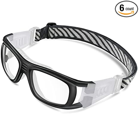 897ce276c4 PONOSOON Sports Goggles Glasses for Basketball Football Volleyball Hockey  1809(Black)