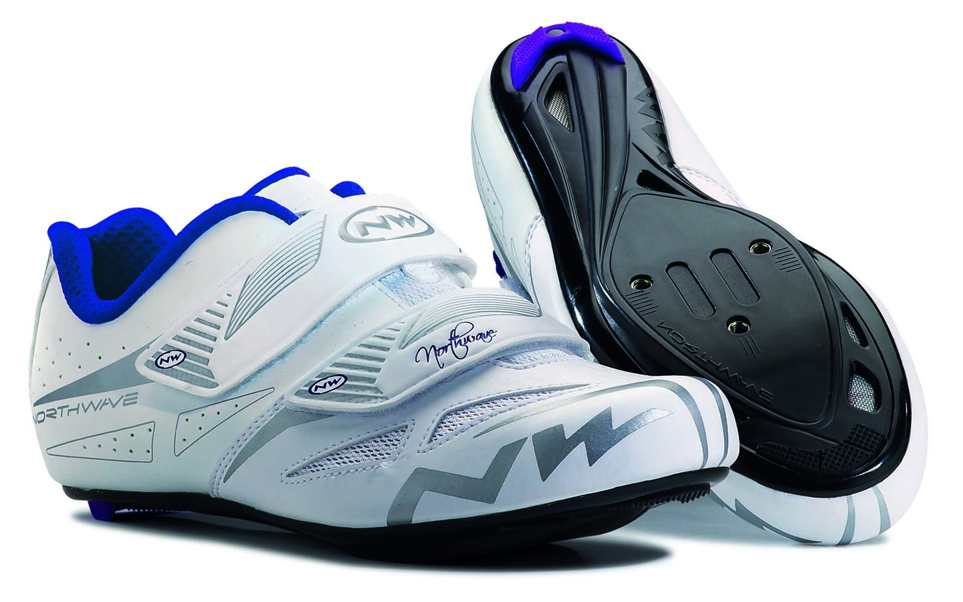 NORTHWAVE Woman road cycling shoes ECLIPSE EVO white/grey (39)