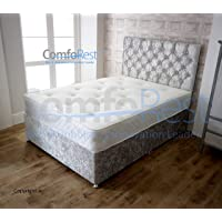 ComfoRest Silver Velvet IBEX Divan Bed Set
