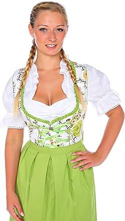 1192 Lukas Dirndl Authentic Bavarian Trachten Dirndl Dress 3-Pieces with Apron and Blouse