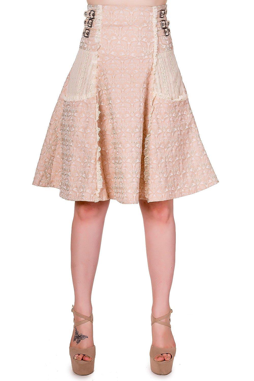 Banned - Falda - para Mujer Beige X-Small: Amazon.es: Ropa y ...