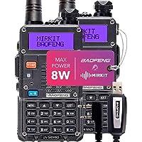 $119 » 2PCs Baofeng Radios UV-5R MK5 8 Watt MP Max Power 2020 1800 mAh Li-ion Battery with…
