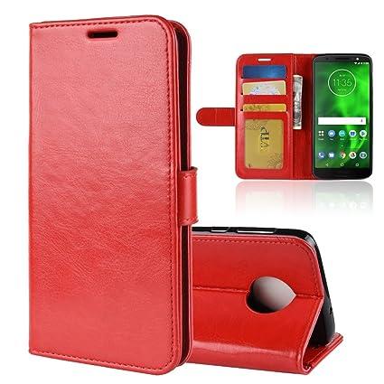 premium selection 80a25 666c6 Amazon.com: AICEDA Motorola Moto G6 Wallet Case, Motorola Moto G6 ...