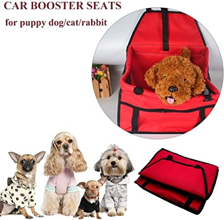 Henweit – Silla para coche de perro gato cachorro mascota viaje bolsa de transporte jaula manta impermeable transpirable mascotas coche Cinturón de Seguridad Cubierta Booster Bolsa Mat mascota viaje coche cojín: Amazon.es: