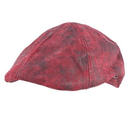 046313b1 Gottmann - Flat Cap Leather Men Brentford Leather: Amazon.co.uk: Clothing