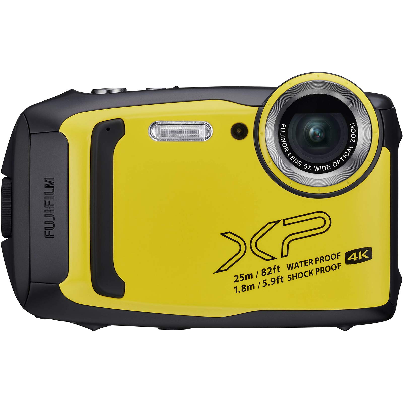 Fujifilm FinePix XP140 Shock & Waterproof Wi-Fi Digital Camera (Yellow) with 32GB + Battery + Case + Selfie Stick + Kit