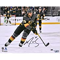 """$39 » Ryan Reaves Vegas Golden Knights Autographed 8"""" x 10"""" Black Jersey Skating Photograph - Autographed NHL Photos"""