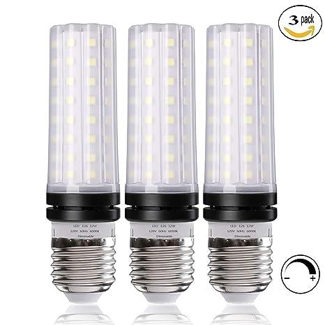 T10 E26 Led Bulbs Dimmable 100 Watt Equivalent Light Bulbs 12w Led Candelabra Bulb Daylight White 6000k Led Lamp Pack Of 3