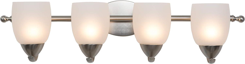 Yosemite Home Decor 1261-4V-BN 4 Light Vanity Light, Brushed Nickel