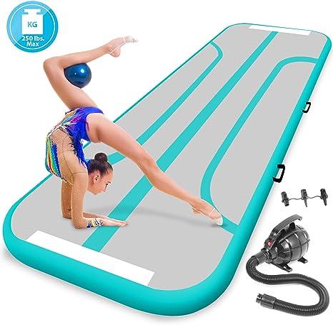 Amazon.com: SereneLife Esterilla hinchable para gimnasia, 13 ...