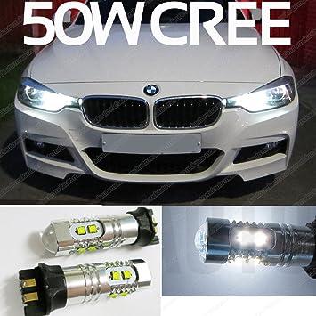 PW24 W 50 W CREE 320d luces de conducción diurna Lámparas Bombillas LED DRL Xenon Blanco ea2r1: Amazon.es: Coche y moto