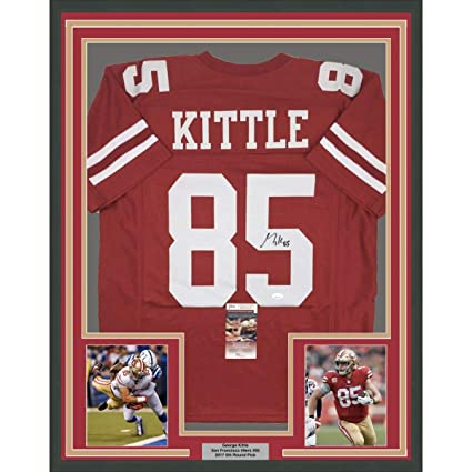 the best attitude 1c5ef bd243 Framed Autographed/Signed George Kittle 33x42 San Francisco ...