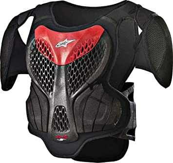 A-5S Youth Body Armor, Black/Red, Large