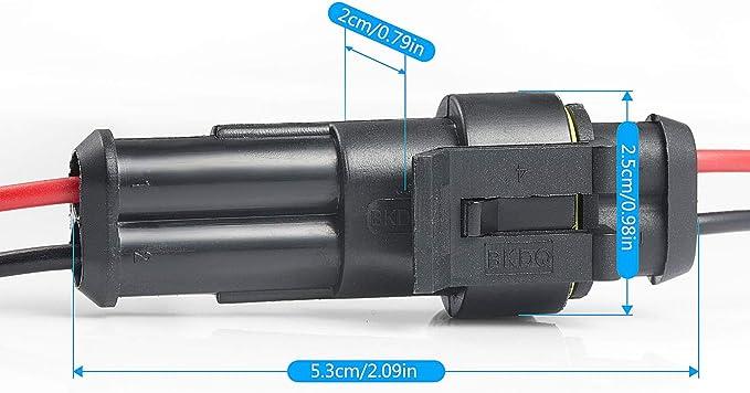 Mwohn Way Auto Wasserdichter Elektrischer Steckverbinder 10 Set 2 Polig Wasserdichte Kabel Steckverbinder Stecker Mit Draht Für Motorrad Auto Auto