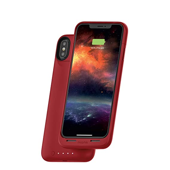 new style 11993 df023 mophie Juice Pack Air - Mfi Certified - Wireless Charging - Protective  Battery Pack Case for Apple iPhone Xs Max - Red