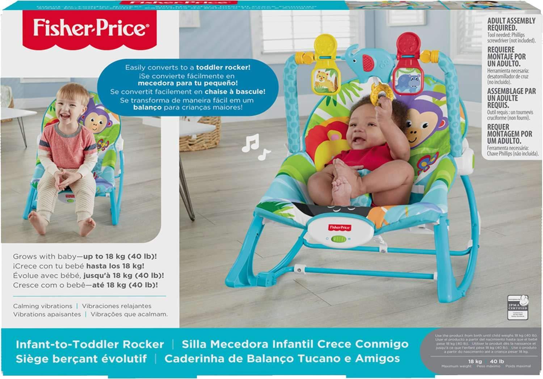 b1a784909 Fisher Price Silla Mecedora Infantil Crece Conmigo: Amazon.com.mx: Bebé