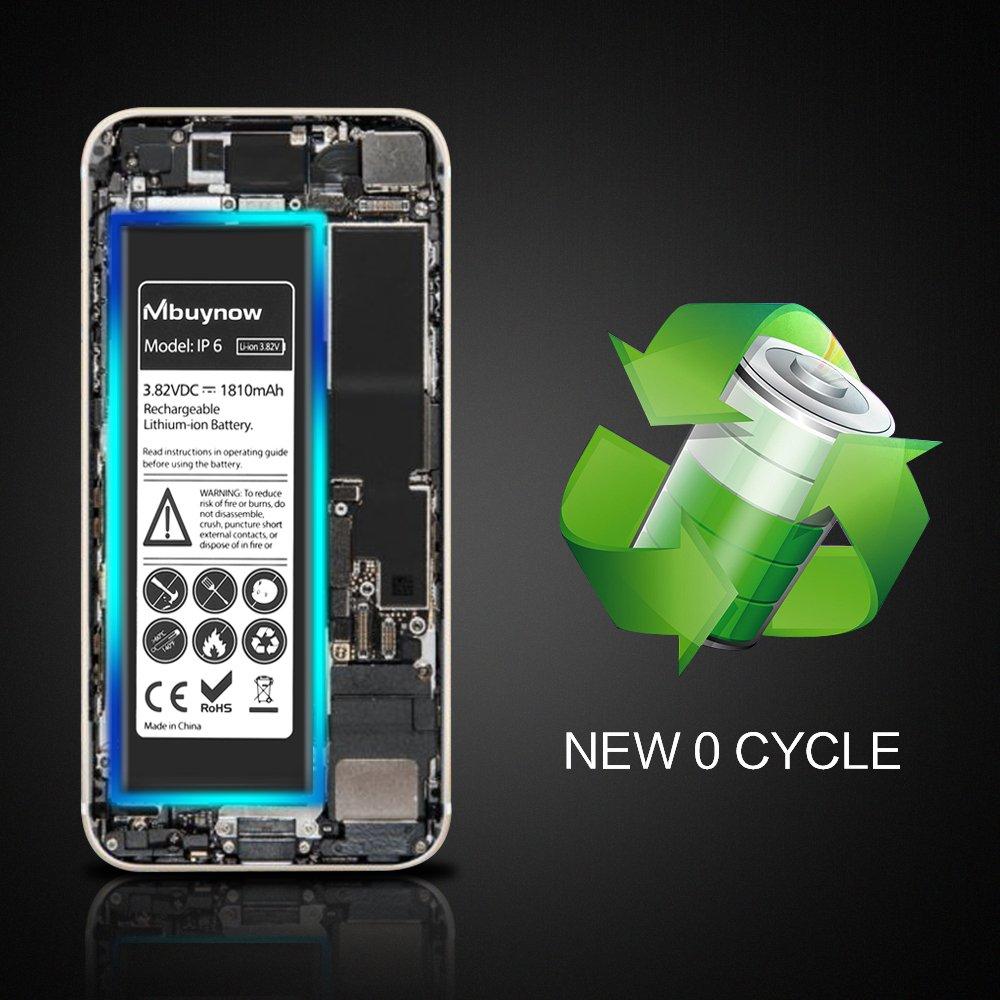 Mbuynow Batterie Interne 1810mAh en Lithium-ION Rechargeable de Remplacement avec Kit de Outils pour iPhone 6