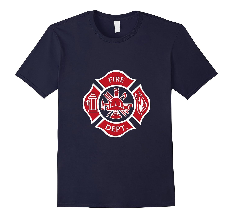 Firefighter Fireman Fire Dept Rescue Uniform T-Shirt-FL