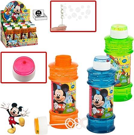 ColorBaby - Caja pomperos Mickey Mouse con 12 Unidades de 300 ml (24229): Amazon.es: Juguetes y juegos