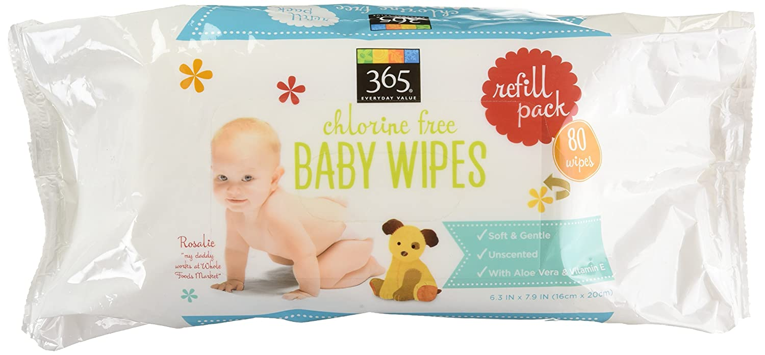 365 Everyday Value Baby Wipes Refill Size, 80 Count Whole Foods Market