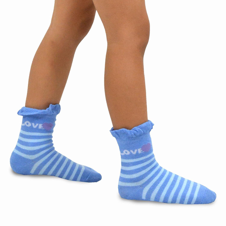 Naartjie TeeHee Kids Girls Cotton Crew Basic Roll Top Socks 6 Pair Pack