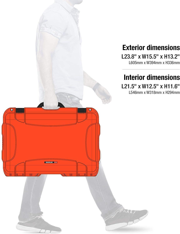Nanuk 955 Waterproof Hard Case with Wheels and Foam Insert Orange