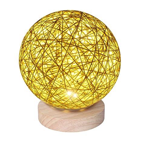 Amazon.com: Luz nocturna de ratán, bolas de ratán Supertech ...