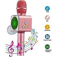 Micrófono Inalámbrico Bluetooth, Xpassion Micrófono de Condensador Amplificador Portátil De Mano con Altavoz, Función de Eco, Micrófono Karaoke para Cantar Hogar KTV Compatible con Android /IOS iPad