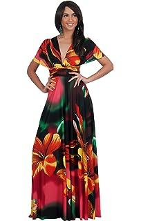 KOH KOH Womens Long One Shoulder Convertible Wrap Infinity Floral Maxi Dress f54de8d70