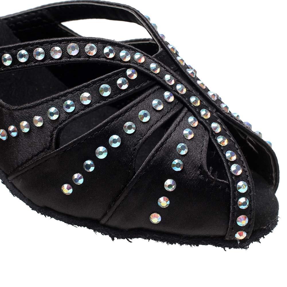 JRYYUE Satin Diamant Damen Ballroom Latein Tanzschuhe Tanzschuhe Tanzschuhe Peep Toe High Heel Kreuz Gurt B07NJ4ZNVN Tanzschuhe Kaufen Sie online 796583