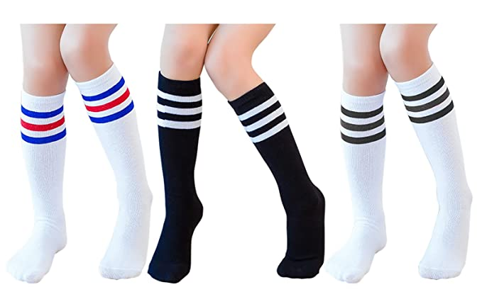 1101575f689 Amazon.com  Knee High Tube Socks for Boys