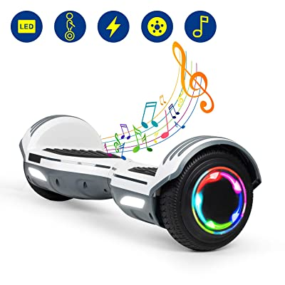"YHR Hoverboard 6.5"" Two-Wheel Self Balancing Hover Board with Bluetooth Speaker and LED Lights Hoverboard for Kids and Adults with UL2272 Certified: Sports & Outdoors"