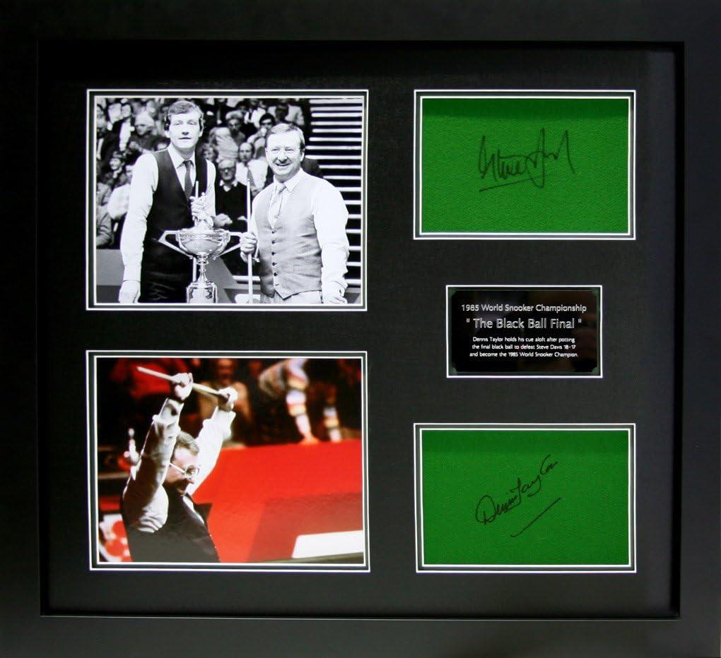 Steve Davis y Dennis Taylor firmada a mano snooker protoporfirina ...