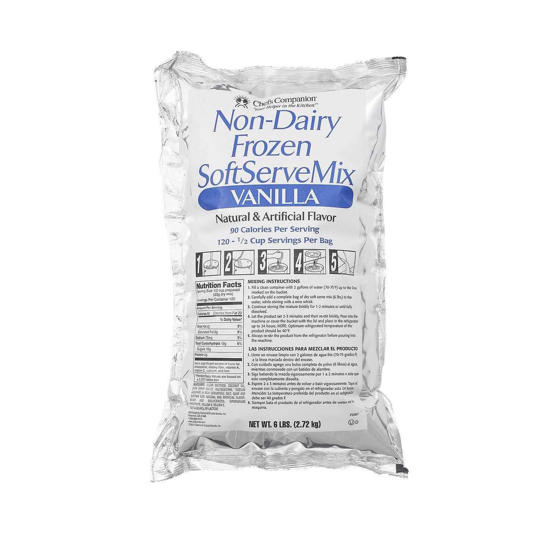 Chefs Companion Vanilla Non Dairy Soft Serve Mix, 6 Pound -- 6 per case.