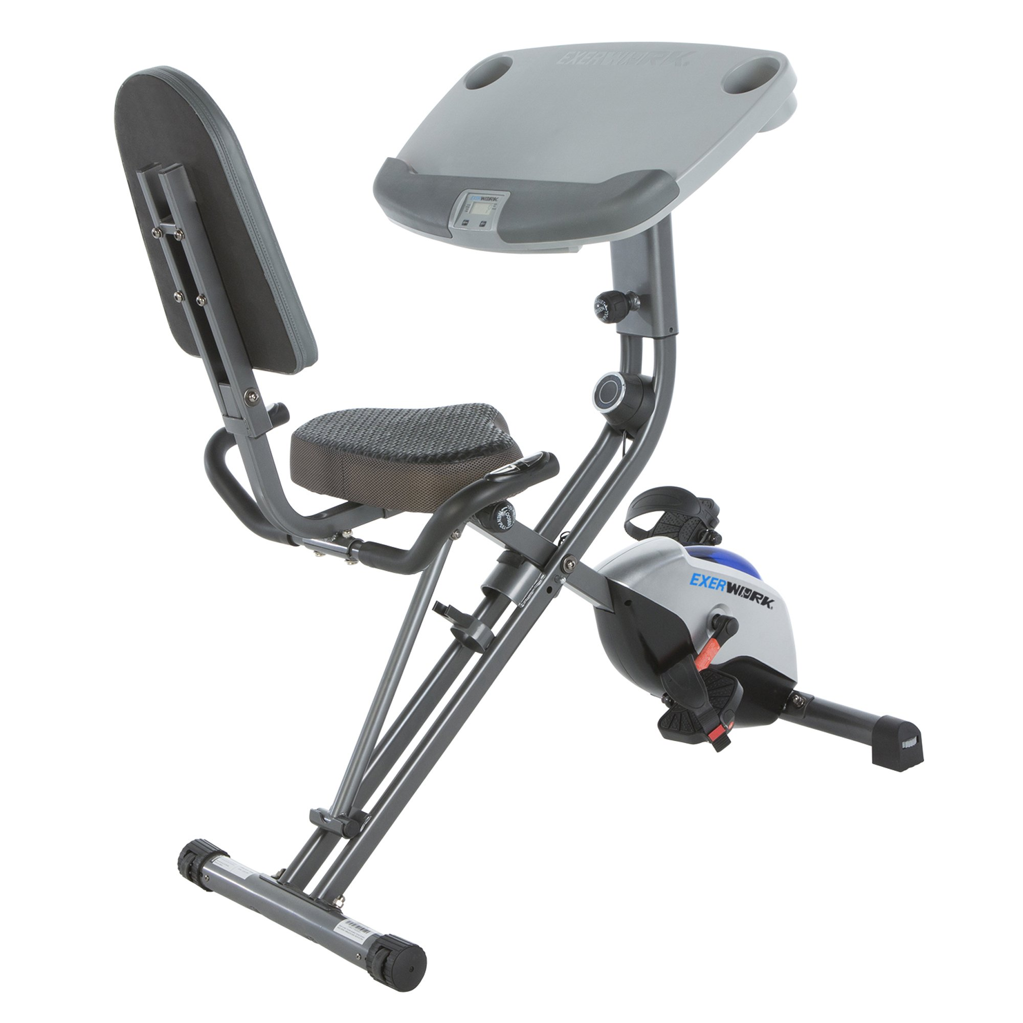 Exerpeutic ExerWorK 1000 Fully Adjustable Desk Folding Exercise Bike with Pulse by Exerpeutic (Image #2)