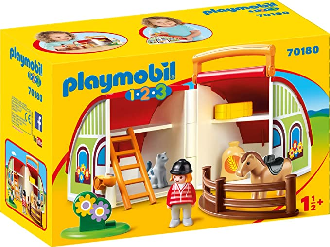 Playmobil 1-2-3 Princess With Unicorn Building Set 70127 NEW IN STOCK