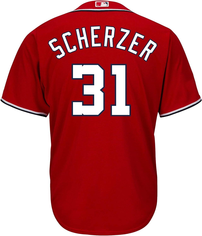 Max Scherzer Washington Nationals Red Youth Cool Base Alternate Replica Jersey