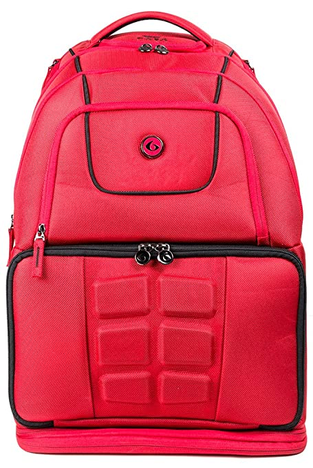 ebe077679ada Buy 6 Pack Fitness Elite Voyager 500 Backpack Red Black Online at Low  Prices in India - Amazon.in