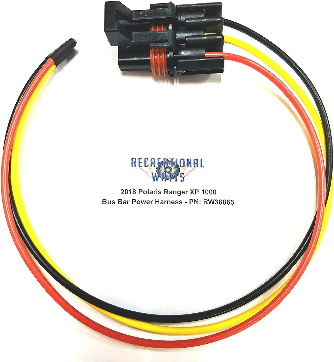 """Polaris Pulse Connector Plug Pigtail Harness ~6/""""  For Ranger RS1,/& /'19 General!"""