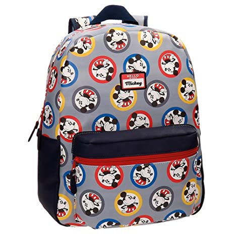 Disney 3022361 Mickey Circles Mochila Escolar, 40 cm, 19.2 litros, Azul