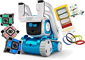Anki Cozmo A Fun, Educational Toy Robot for Kids with 3 Cubes & Dock,(4) Treads,Item Tracker for Cozmo Kit - for Android & iOS Apple (Renewed)
